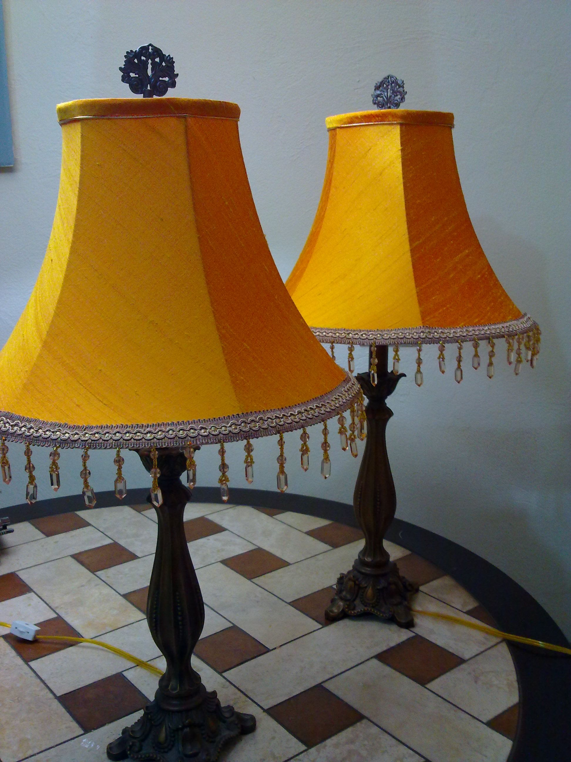 Yellow silk empire shades manufactured by cmb designs trinidad lights arubaitofo Gallery