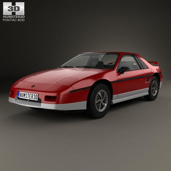 3D Model Of Pontiac Fiero GT 1985
