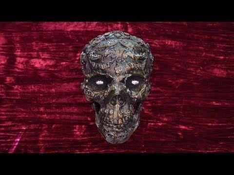 103) Opulent Verdigris Skull - Part One - YouTube Altered Art - how to make halloween decorations youtube