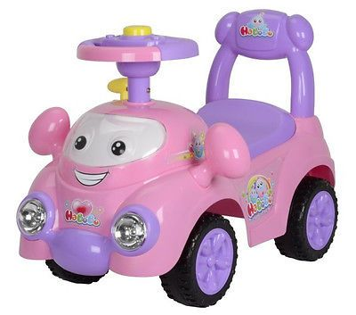 Baby Girl Cute Pink Speedy Ride On Push Car With Music Horn