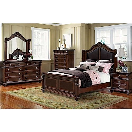 Keep It Cly With The Traditional Style Cherry Bedroom Set From Riversedge Furniture