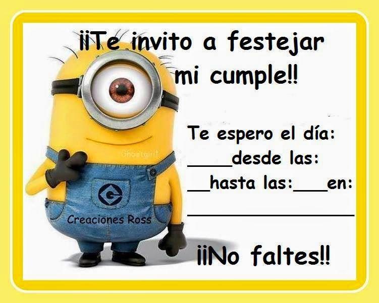 Invitación Tarjetas De Invitacion Infantiles Cumpleaños