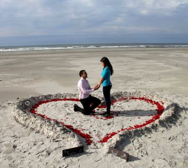Marriage Proposal Romantic Ideas At The Beach