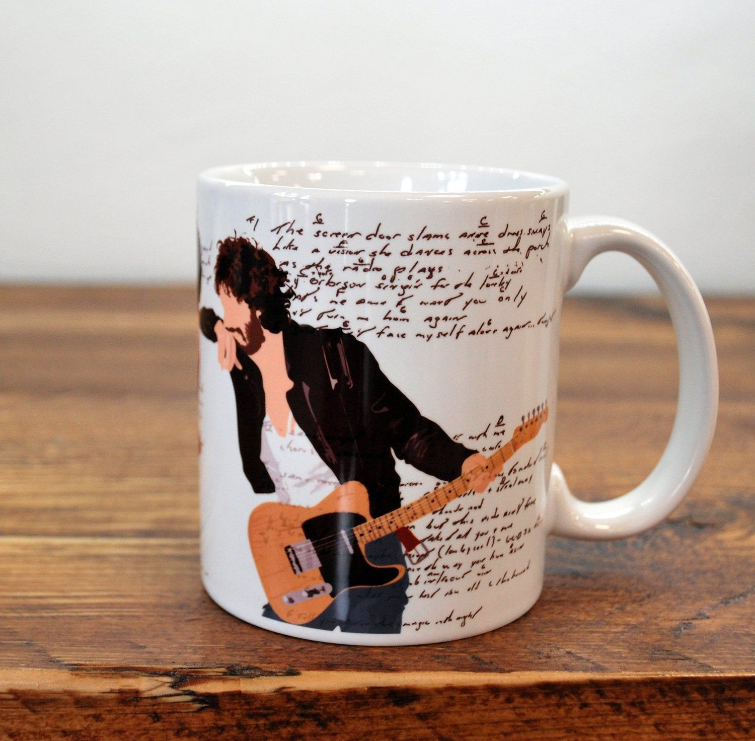 Bruce Springsteen Coffee Mug / Cup Thunder Road Born in