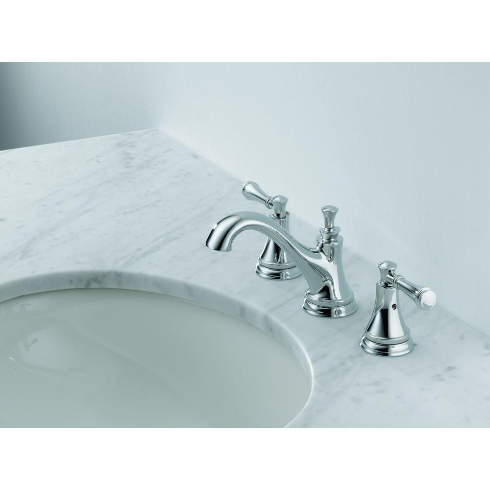 Delta Silverton 8 in. Widespread 2-Handle High Arc Bathroom Faucet ...