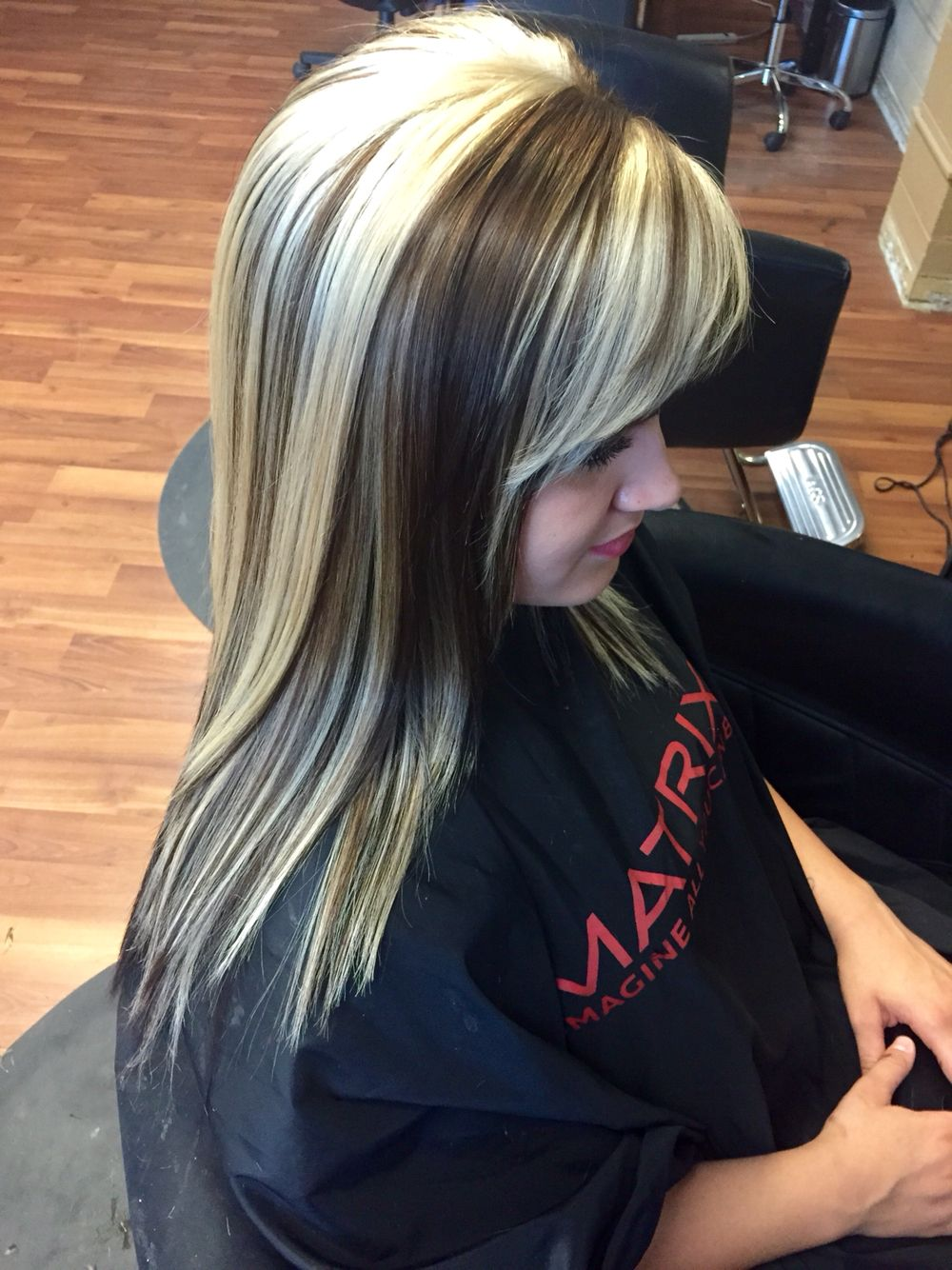 Golden Brown With Chunky Blonde Highlights Hair Hair