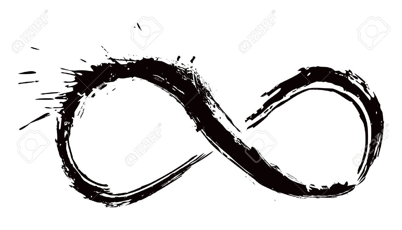 Infinity Symbol Created In Grunge Style Infinity Symbol Art Infinity Symbol Mobius Strip Tattoo