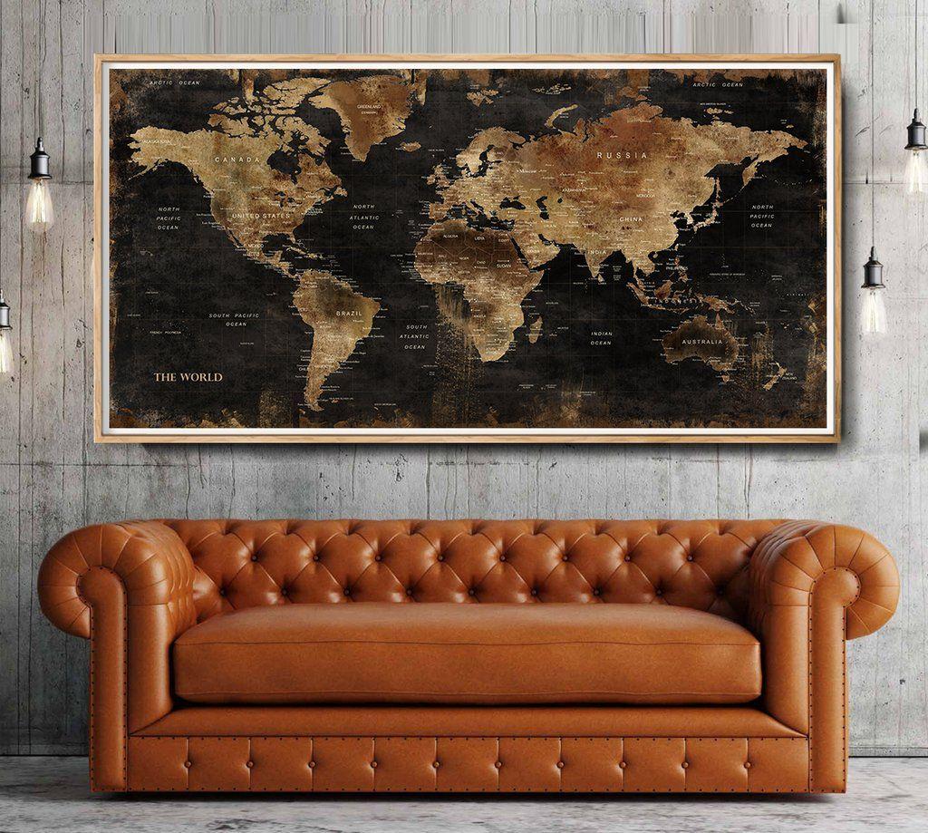 World mapcustom world maplarge world map wall art custom poster