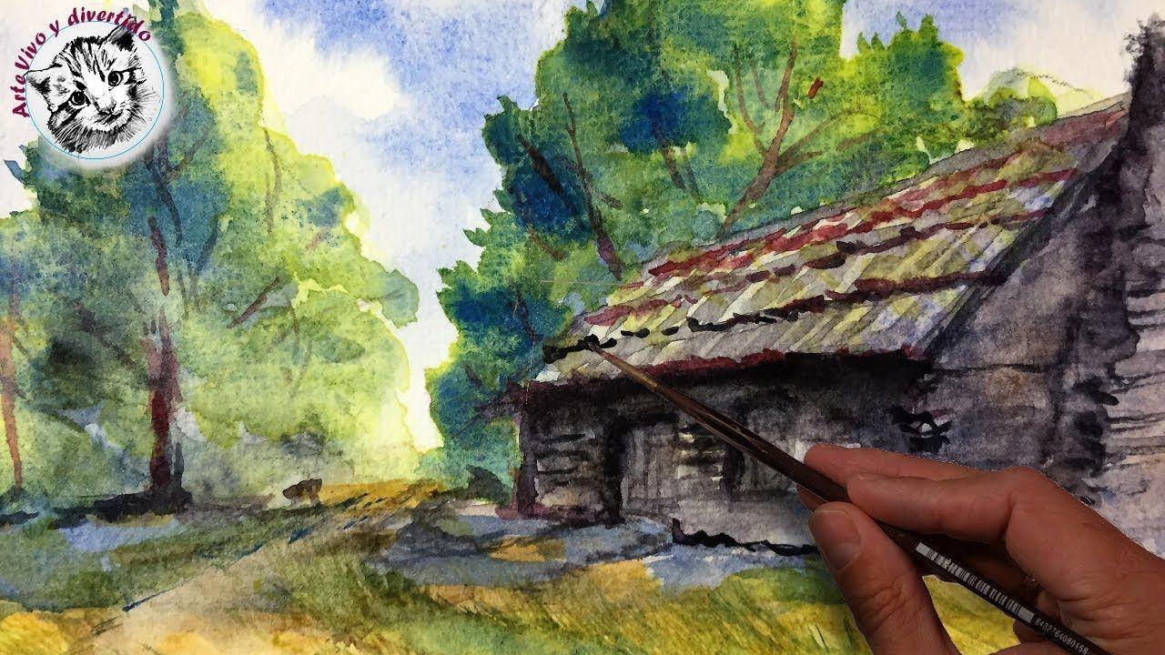 Curso de Acuarela 3 | Como Pintar un Paisaje con Acuarelas ...