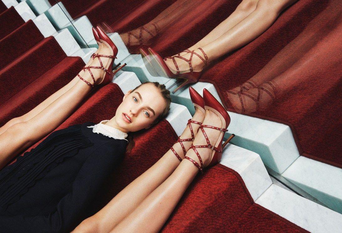Grace Hartzel, Harleth Kuusik, Ine Neefs, Maartje Verhoef by Michal Pudelka for Valentino Pre-Fall 2015 1