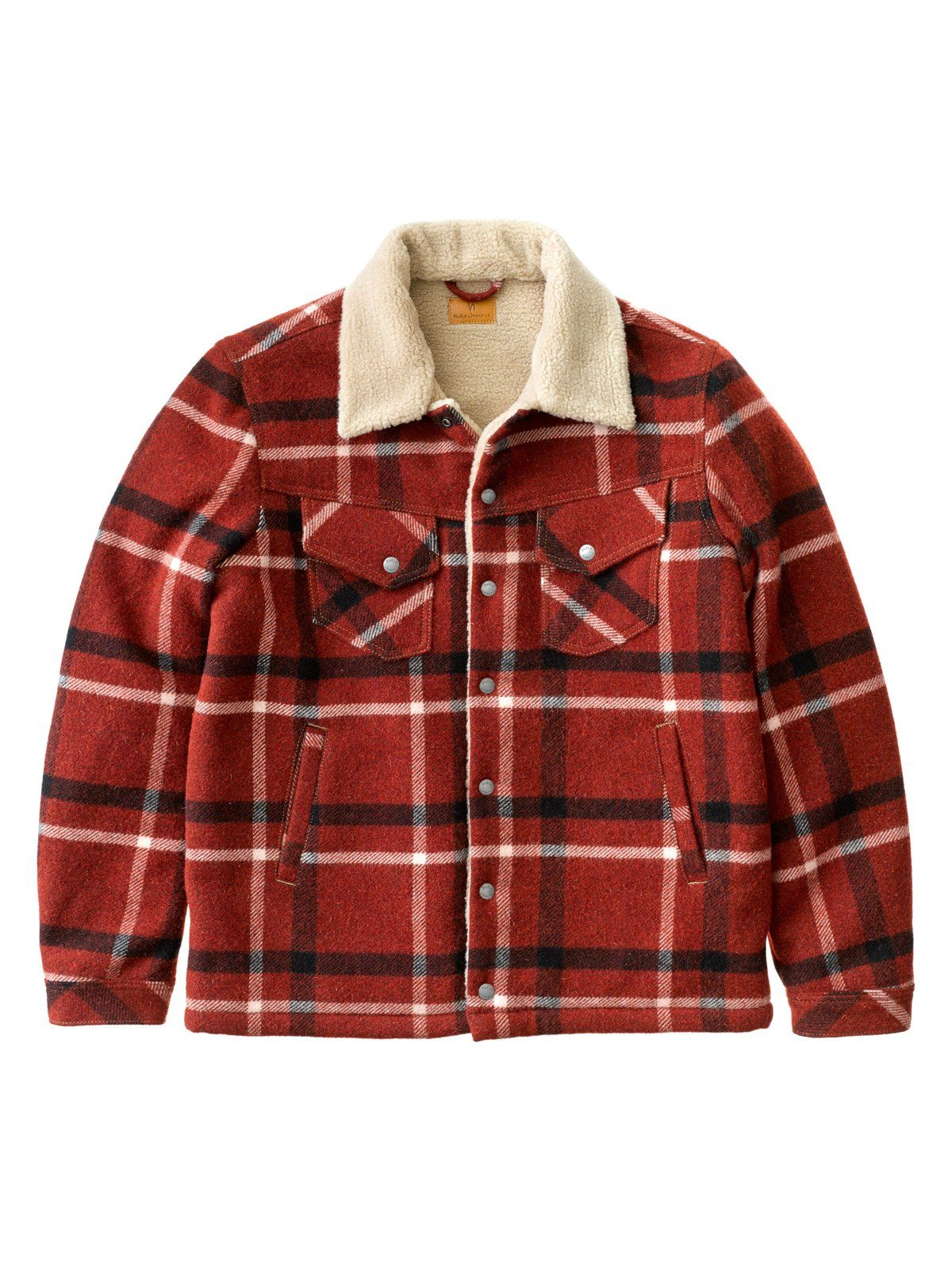 717f9e7cc nudie lenny wool check ruby   want   Nudie jeans, Mens tops, Wool