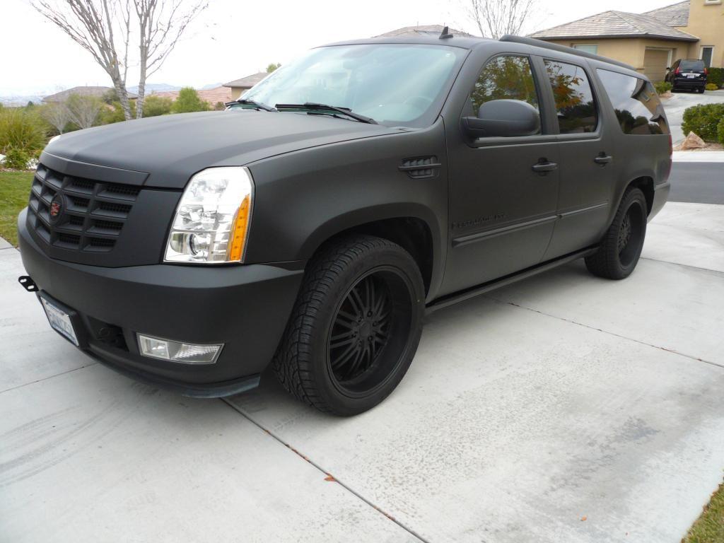Black Matte Cadillac Escalade