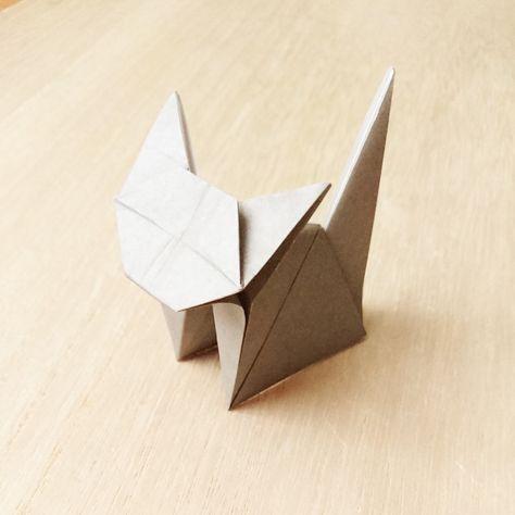 """Photo of Dieses Mal werden wir """"dreidimensionale Katzen"""" vorstellen, die mit einem Origami hergestellt…"""