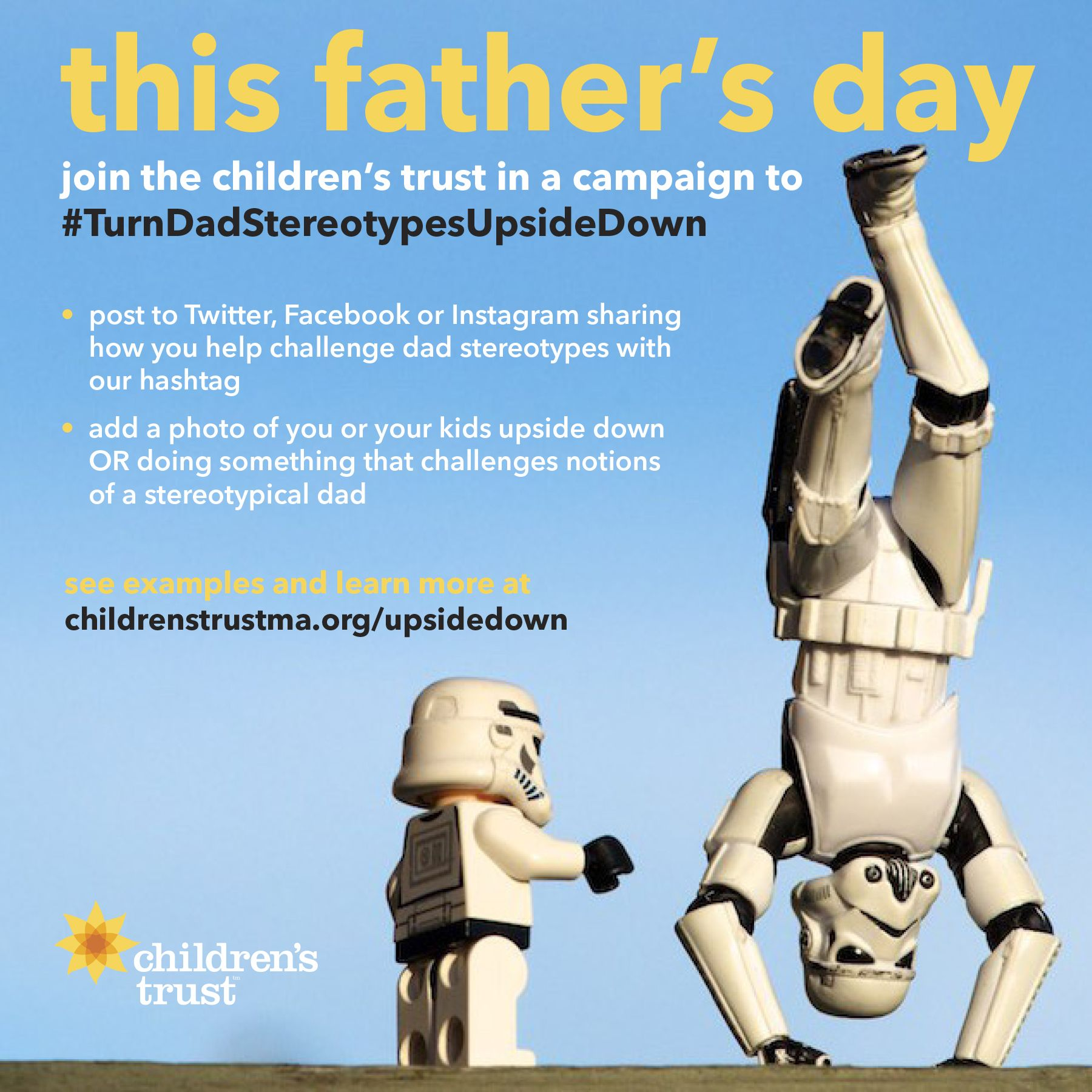 This #FathersDay, join the Children's Trust in a campaign to #TurnDadStereotypesUpsideDown.