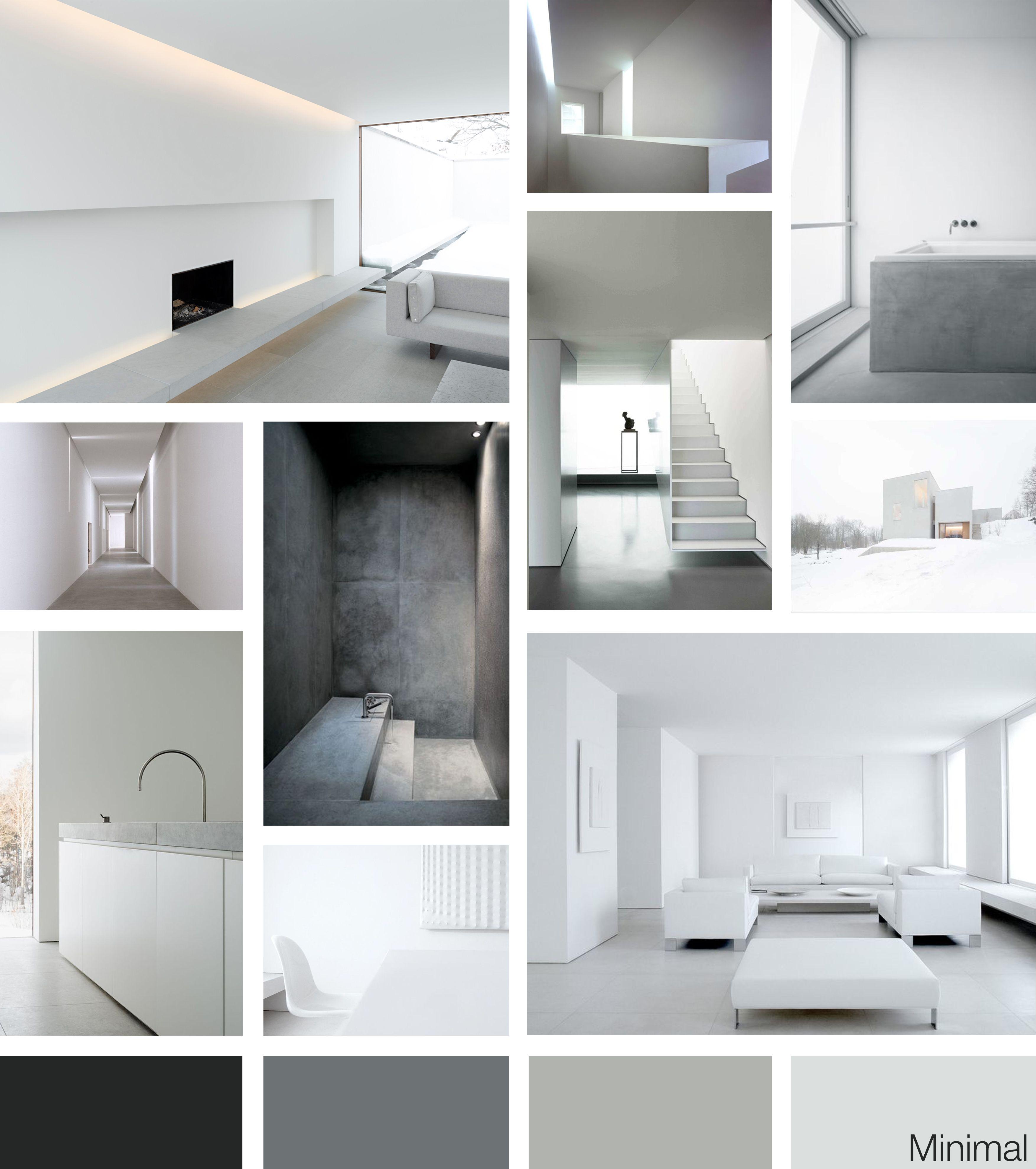 Moodboard minimal style by me nel 2019 for Design minimalista