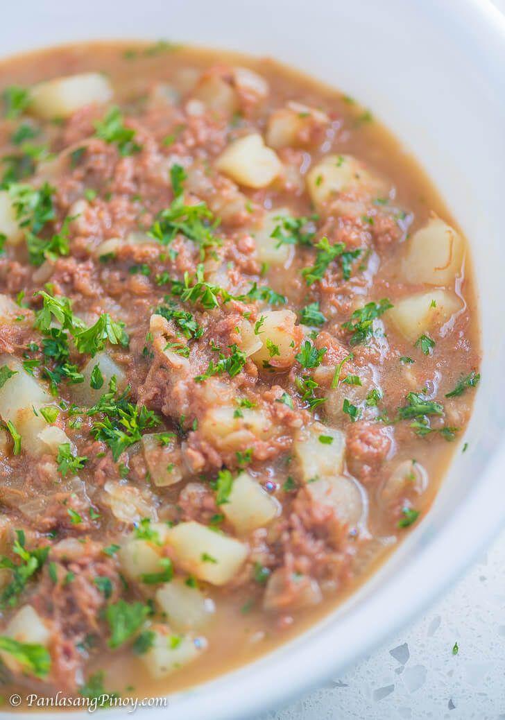 Sinabawang Corned Beef Recipe Filipino Food Beef Recipes
