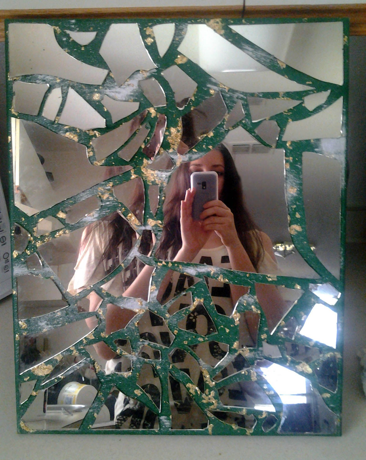 how to fix a cracked mirror diy