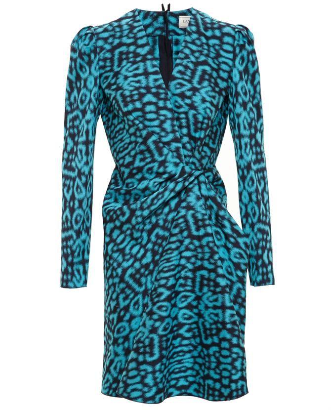 LANVIN Draped Leopard Print Dress http://bit.ly/22y6LJu