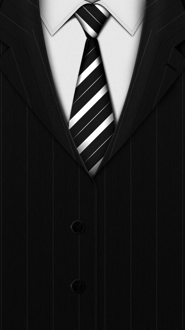 Stylish Mens World Style Suite Tie Black For Guys Cool Art HD IPhone 6 Wallpaper
