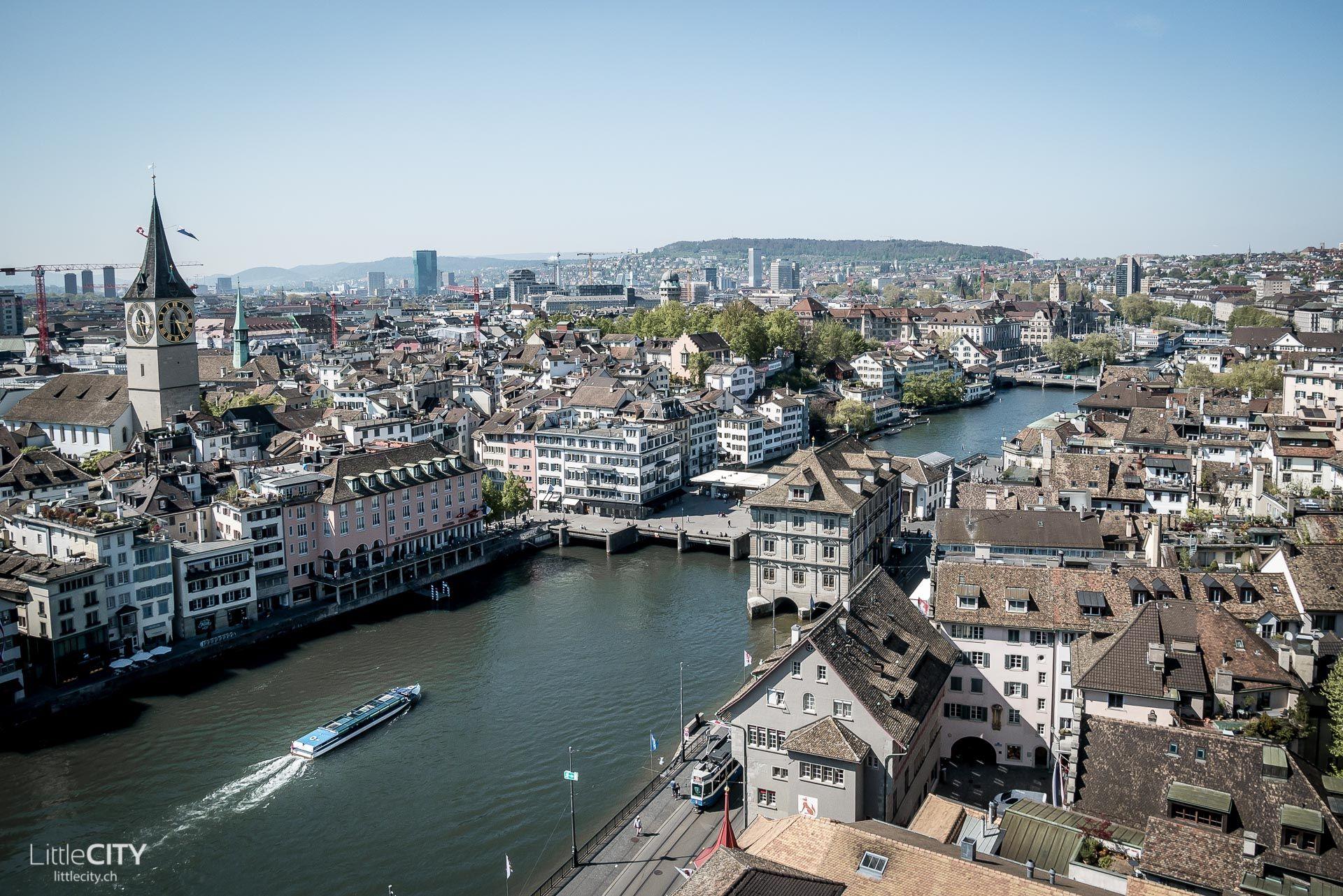 Zürich Switzerland Sicht Vom Grossmünster über Altstadt