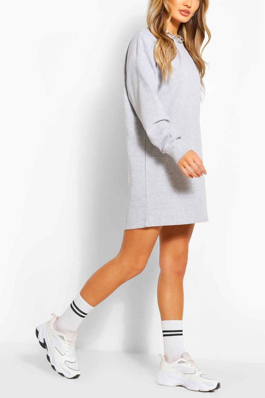 Recycled Oversized Sweatshirt Dress Boohoo Sweat Dress Bodycon Fashion Sweatshirt Dress [ 1500 x 1000 Pixel ]