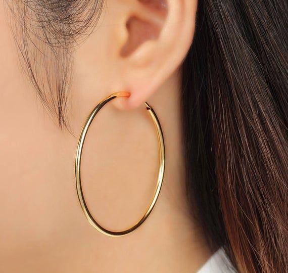 Small tassels spring hoop clip on earrings huggie  no pierce