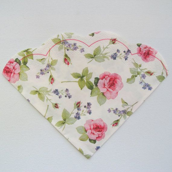 Round paper napkin for decoupage floral napkin pink roses and floralpapernapkins round paper napkin for decoupage floral napkin pink by napkinsdeco mightylinksfo