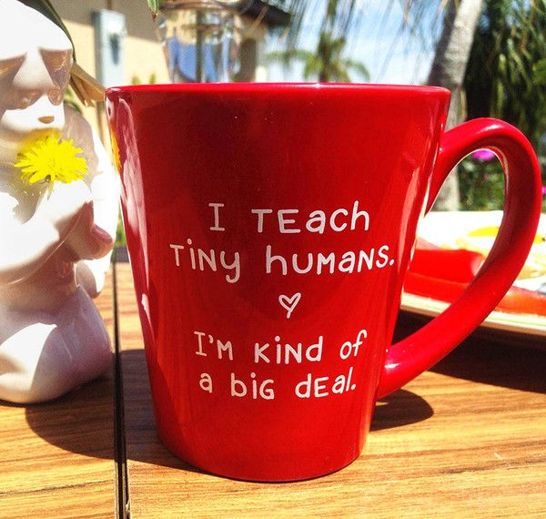 It's no secret that teachers require a steady flow of caffeine. After all, teaching is kind of a big deal! So always keep a coffee handy with this perfect mug f
