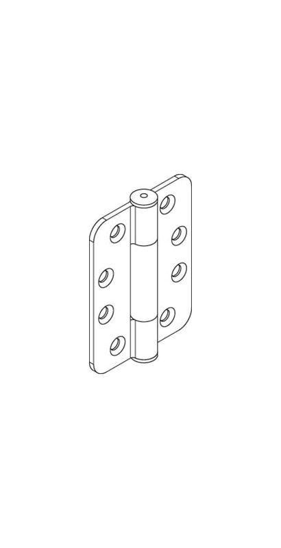 Hafele 407.78.HINGE HAWA Folding Wall Steel Hinge with Plastic Bearing for Slidi