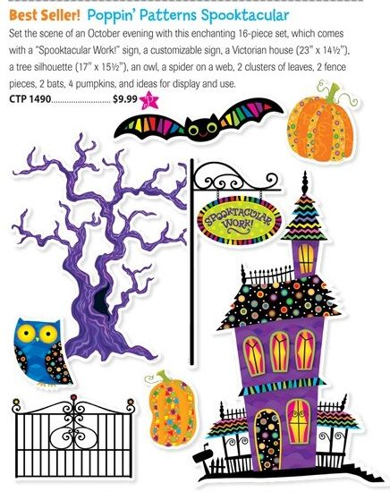 Festive #decorations for the #classroom! From #CreativeTeachingPress - halloween catalog
