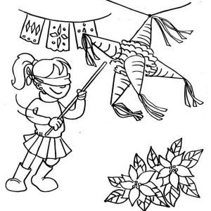 The Joyful Of Hitting Pinata Coloring Page The Joyful Of Hitting Coloring Books Coloring Pages Christmas Coloring Pages