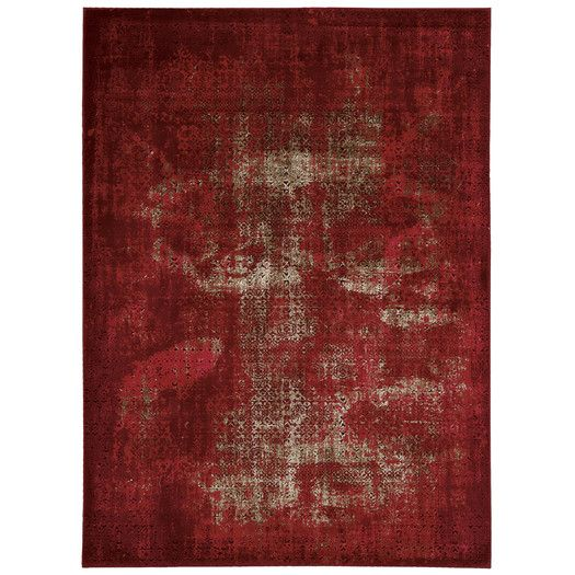 Captivating Karma Red Area Rug | All Modern
