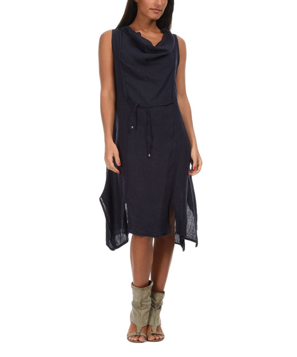 This Navy Blue Perla Linen Dress By Couleur Lin Is Perfect! #zulilyfinds