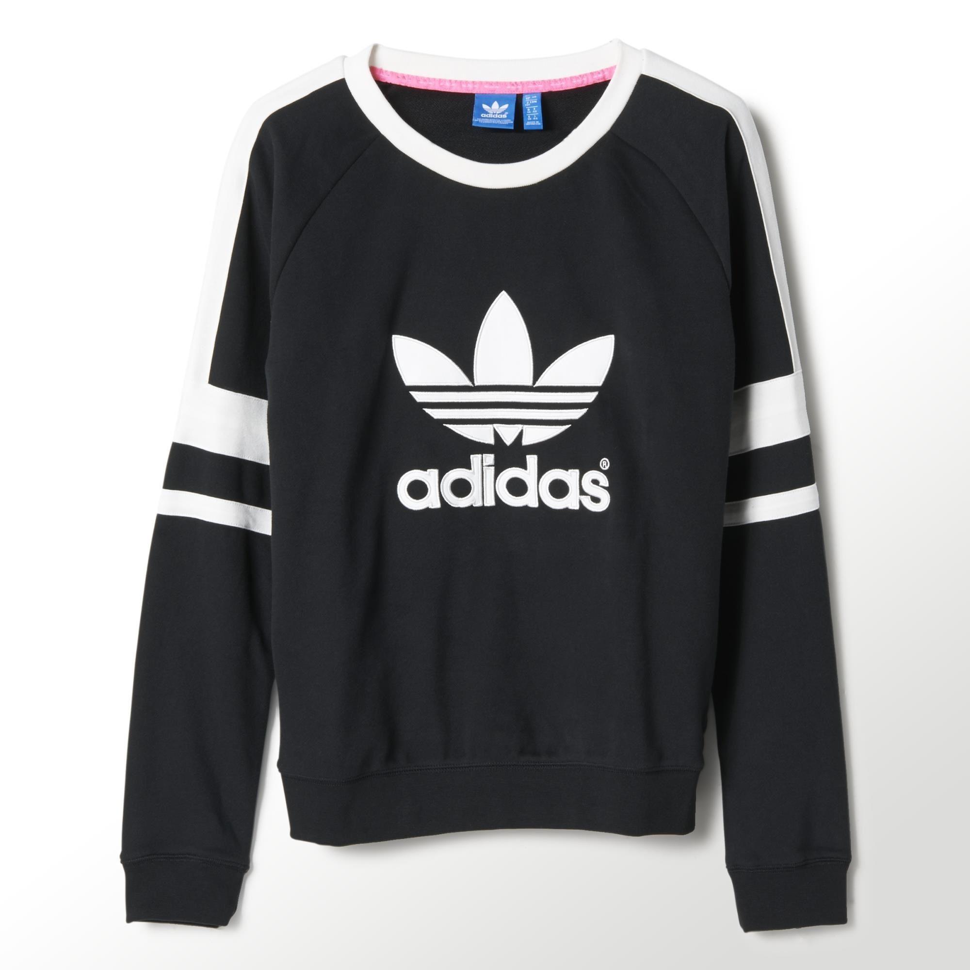 Adidas Logo Crew Sweatshirt Adidas Us Adidas Women Adidas Outfit Hoodies Womens [ 2000 x 2000 Pixel ]