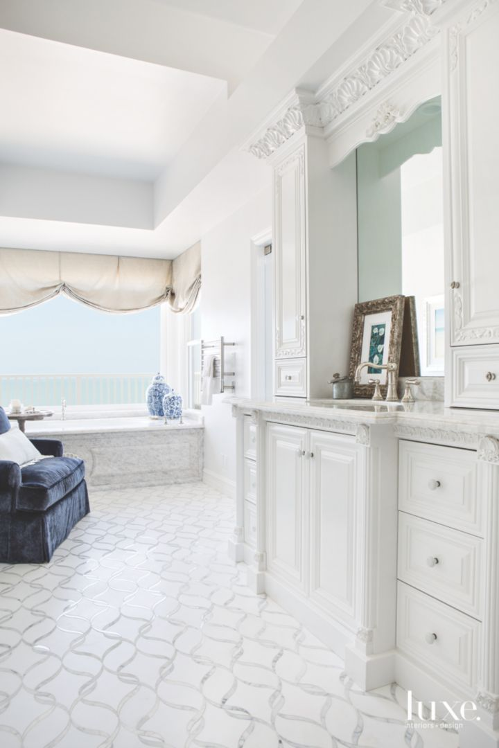 Kelly Ferm Inc White Master Bathroom All White Bathroom Luxe