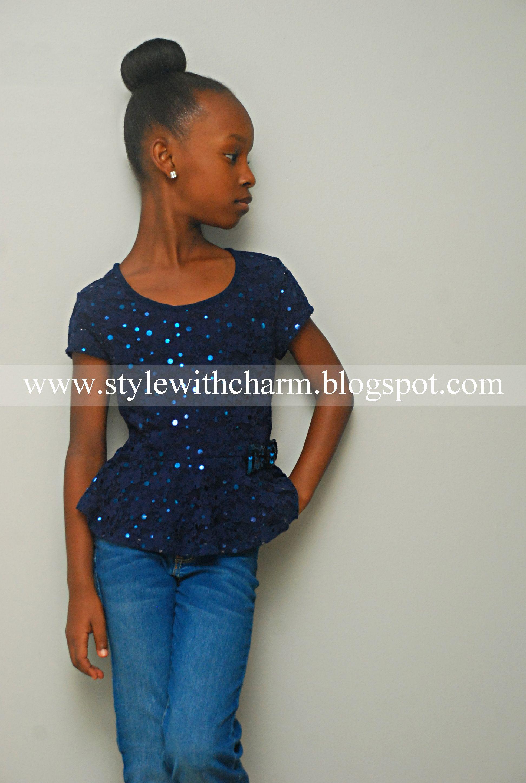 Sparkly. Glittery. Sequin. Navy. Blue. Peplum. Top. Shirt. Blouse ...
