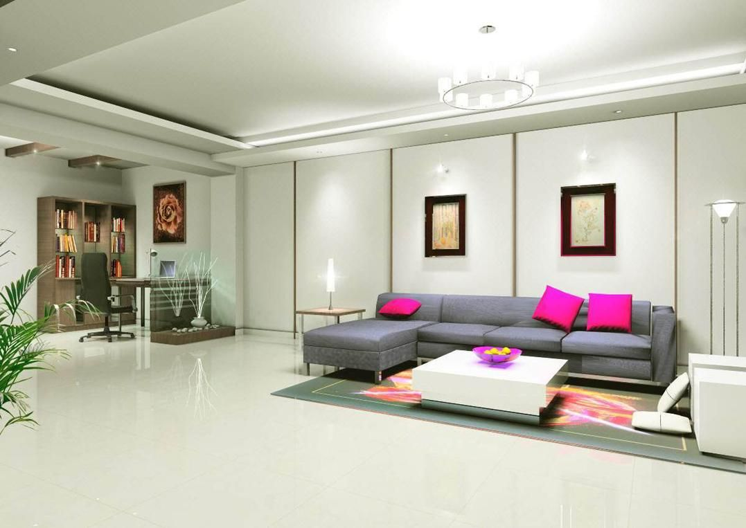 Interior decoration of drawing room - L Shaped Living Room Designs In India Picture