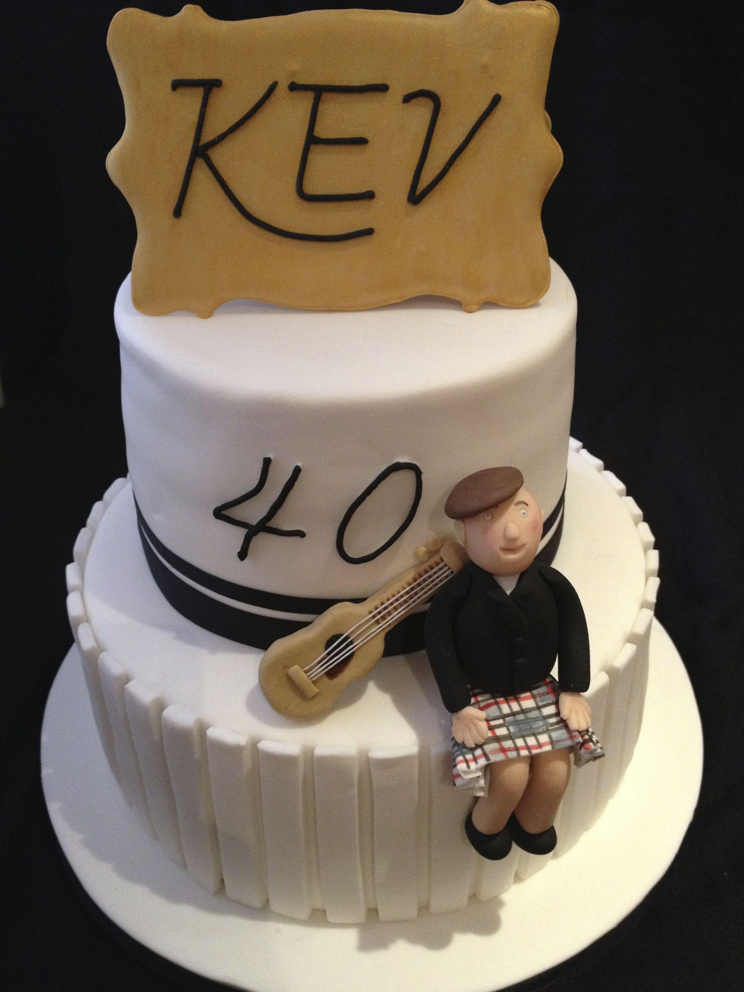 40th Birthday Cake guys guitar cake by S K Cakes wwwskcakesco
