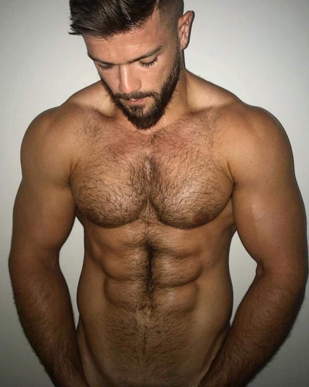 Portrait Of A Muscular Man With Bare Chest, After Workout Looking