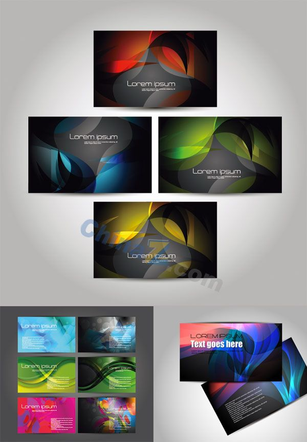 Bright business card vector template inspired nicely designed bright business card vector template reheart Image collections