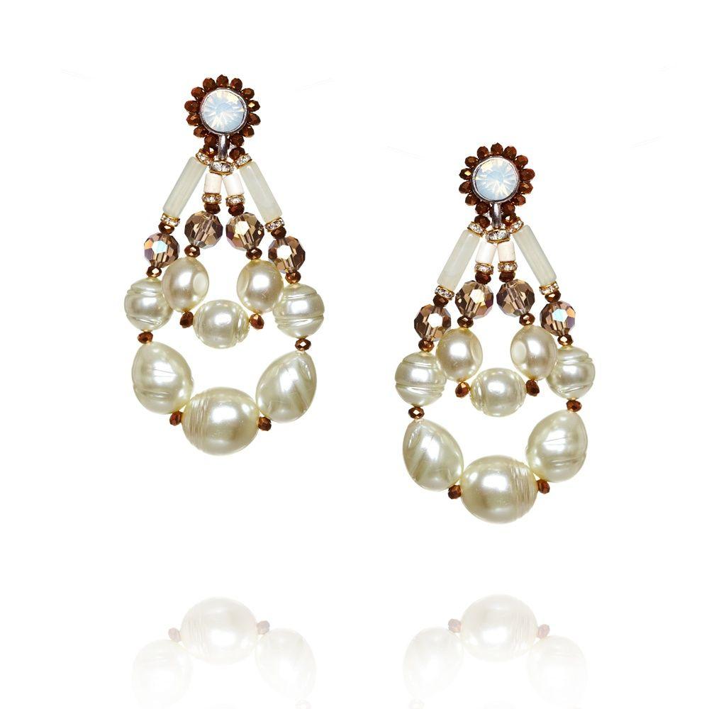 Pearl Teardrop Earrings by Butterfly Jewellery