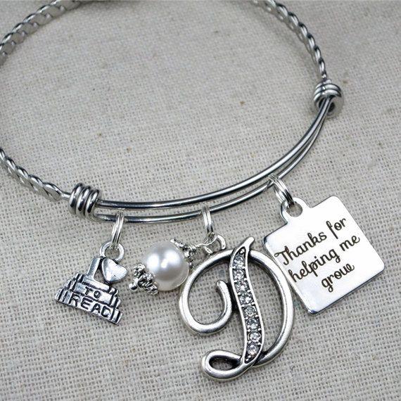 TEACHER Christmas Gift Bracelet Thanks For by ScrapheartGifts