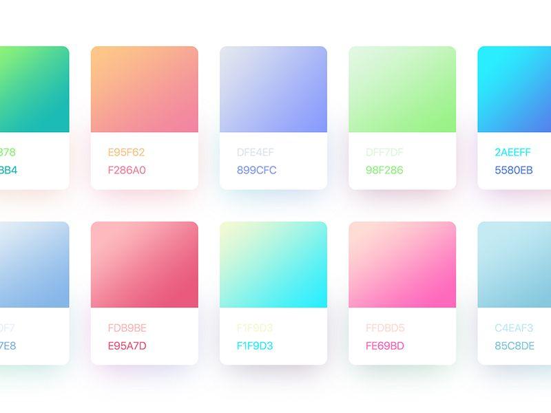 Gradients Style Gradient Color Design Color Harmony Color Design