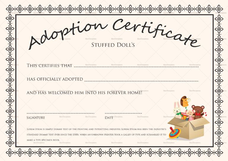 free printable blank baby birth certificates templates inside baby doll birth certificate
