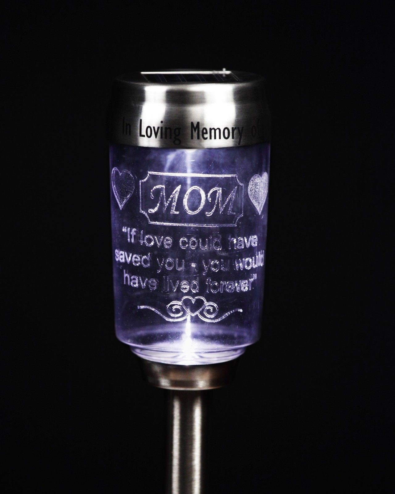 New Solar Candle Memorial Flickering Funeral Tribute Keepsake Remembrance Plaque