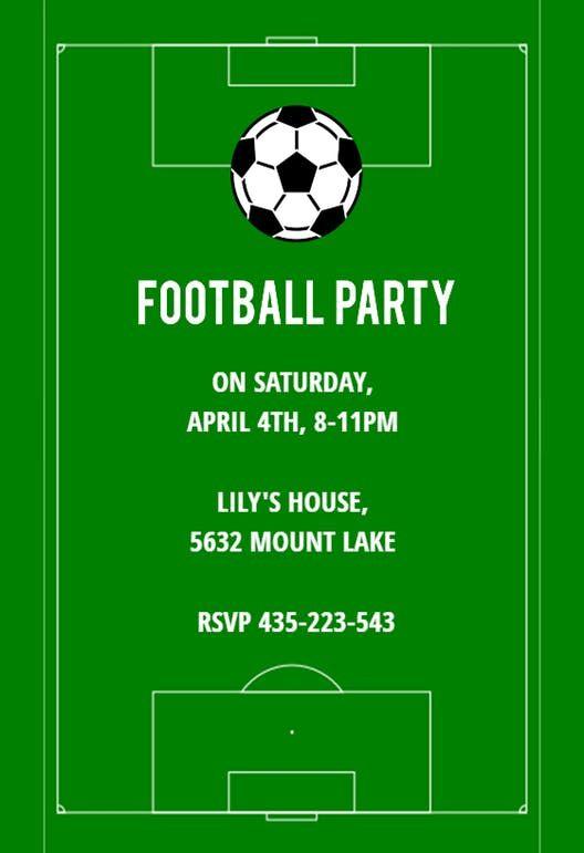 Soccer Night - sports & games Invitation Template (Free ...
