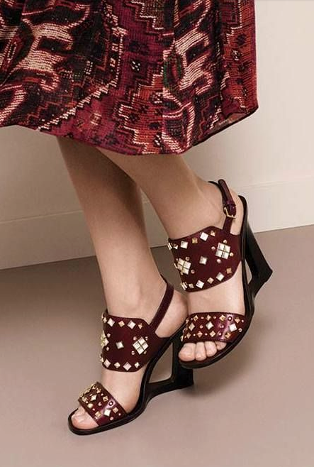Moroccan Inspired Details Meet Dramatic Height On The Tory Burch