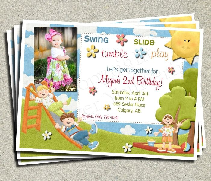 Park theme birthday invitation diy you print 1300 via etsy playground park birthday invitation with picture for a boy filmwisefo Gallery