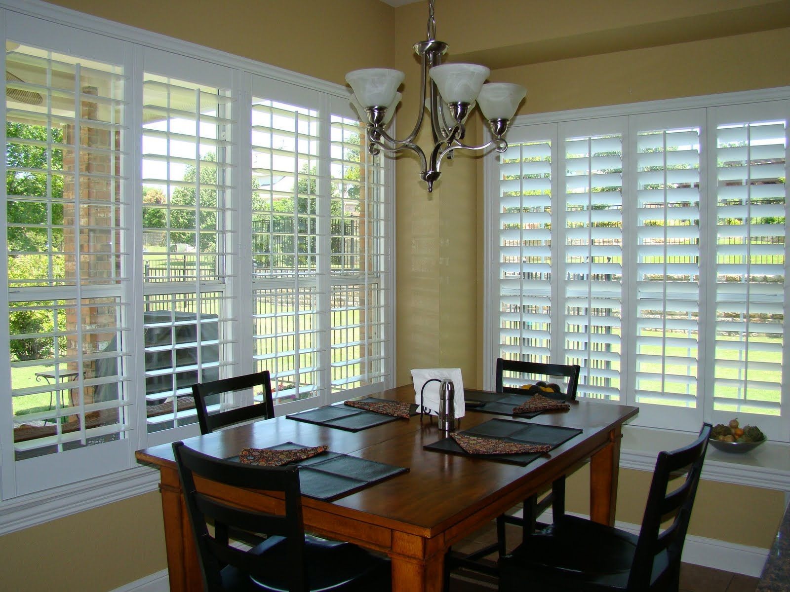 Plantation shutters for sunroom for the home pinterest for Window covering ideas for sunrooms