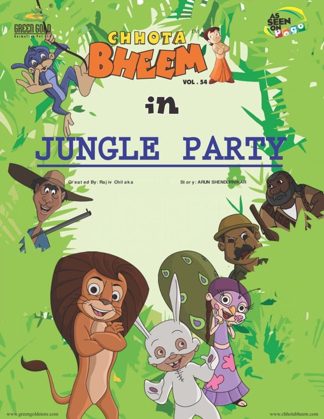 Chhota Bheem Vol 54 - Jungle Party edition - Read the digital - best of chhota bheem coloring pages games